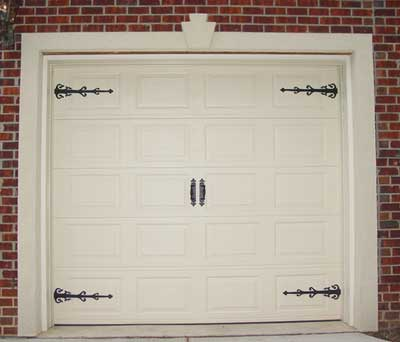 hardware types decorative garage door option