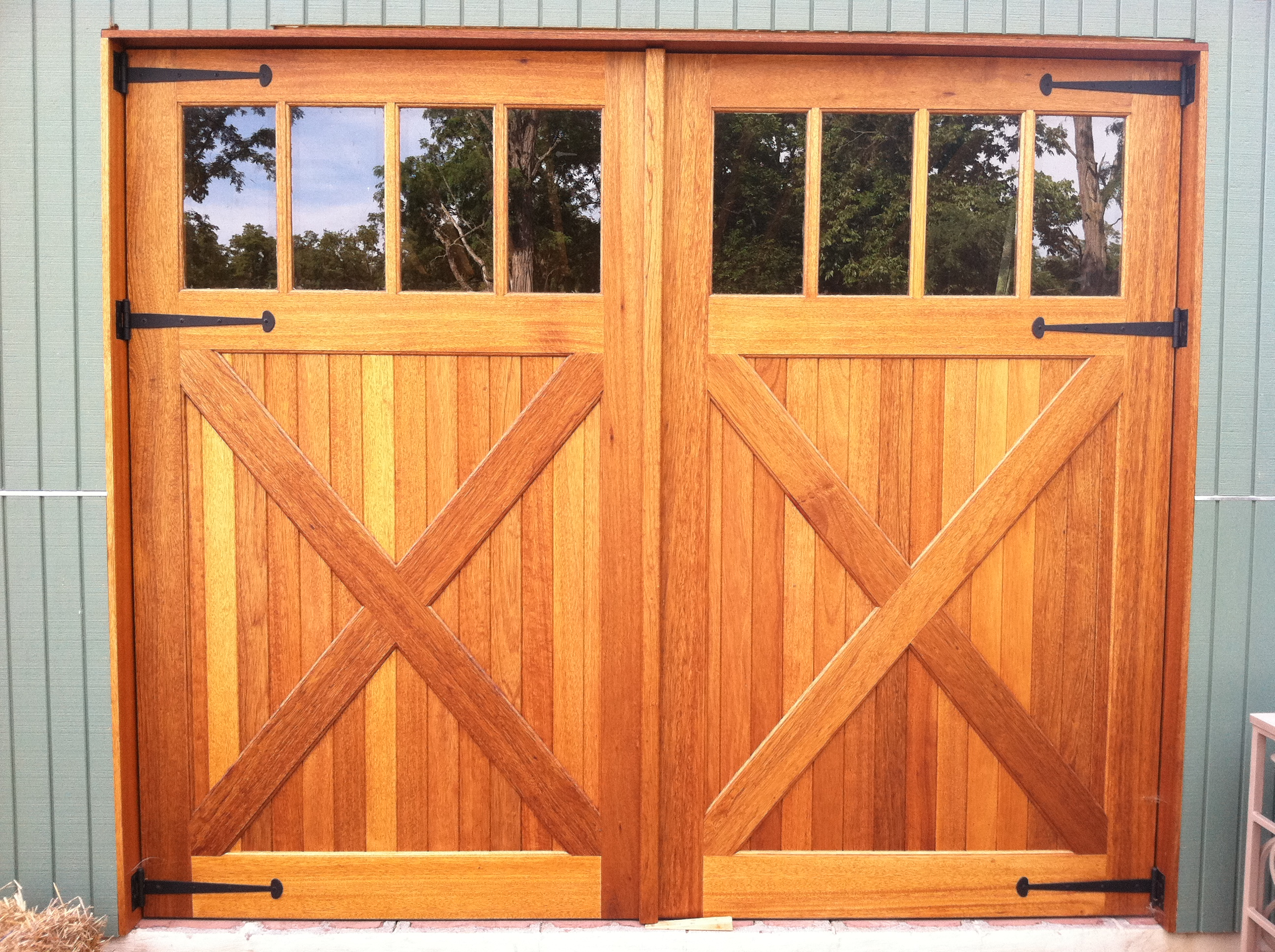 with for wood great doors windows door modern garage warm look regarding