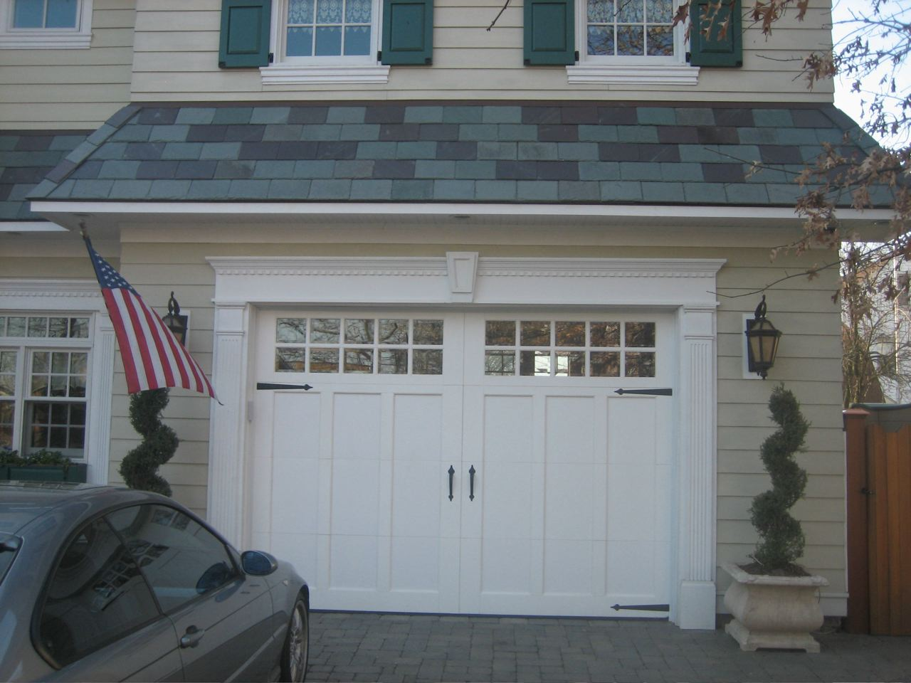 full wood insulated on exterior door contemporary for view brilliant modern garage doors