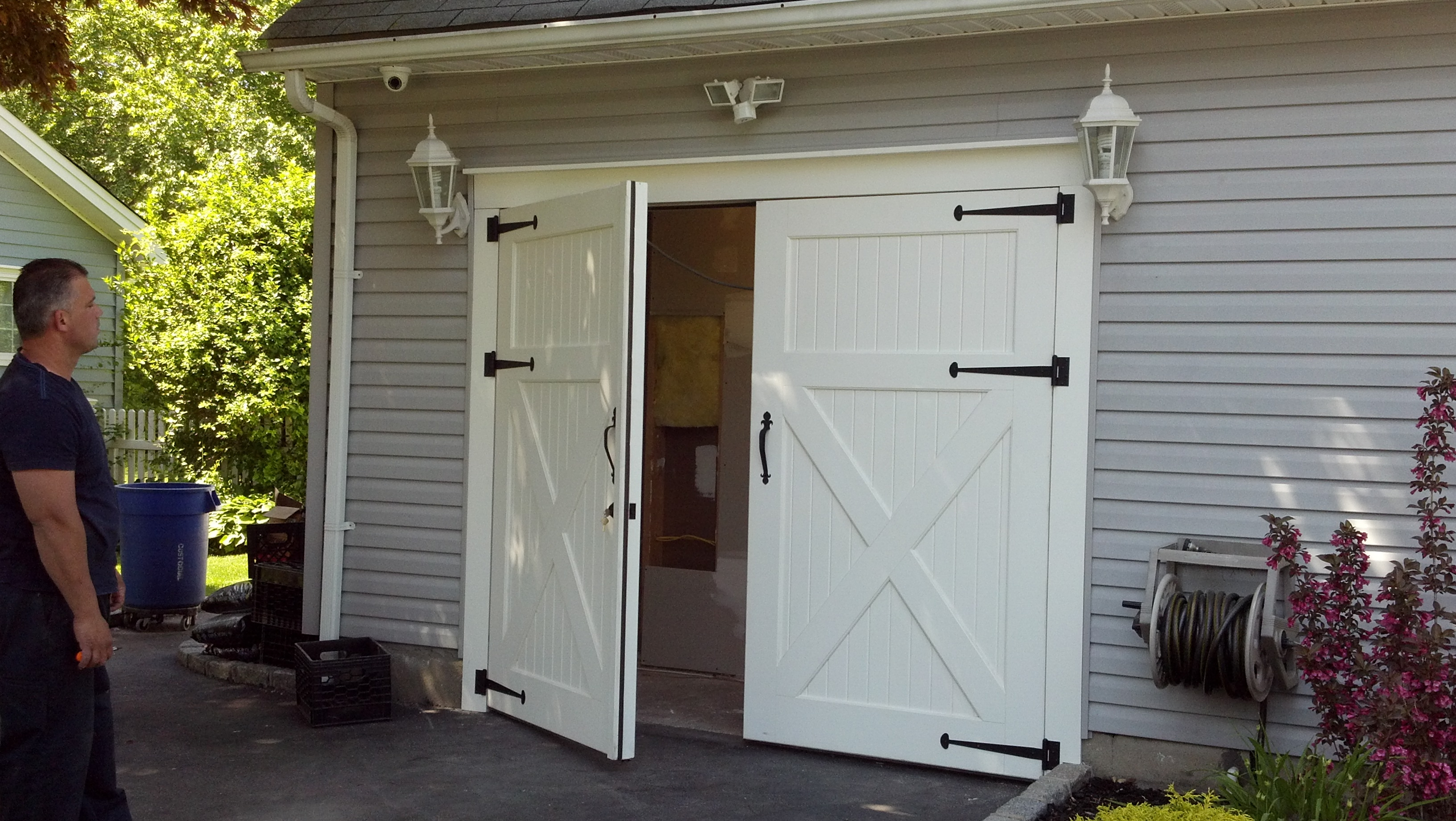 garage door for shedClingerman Doors  Custom Wood Garage Doors  Clearville PA