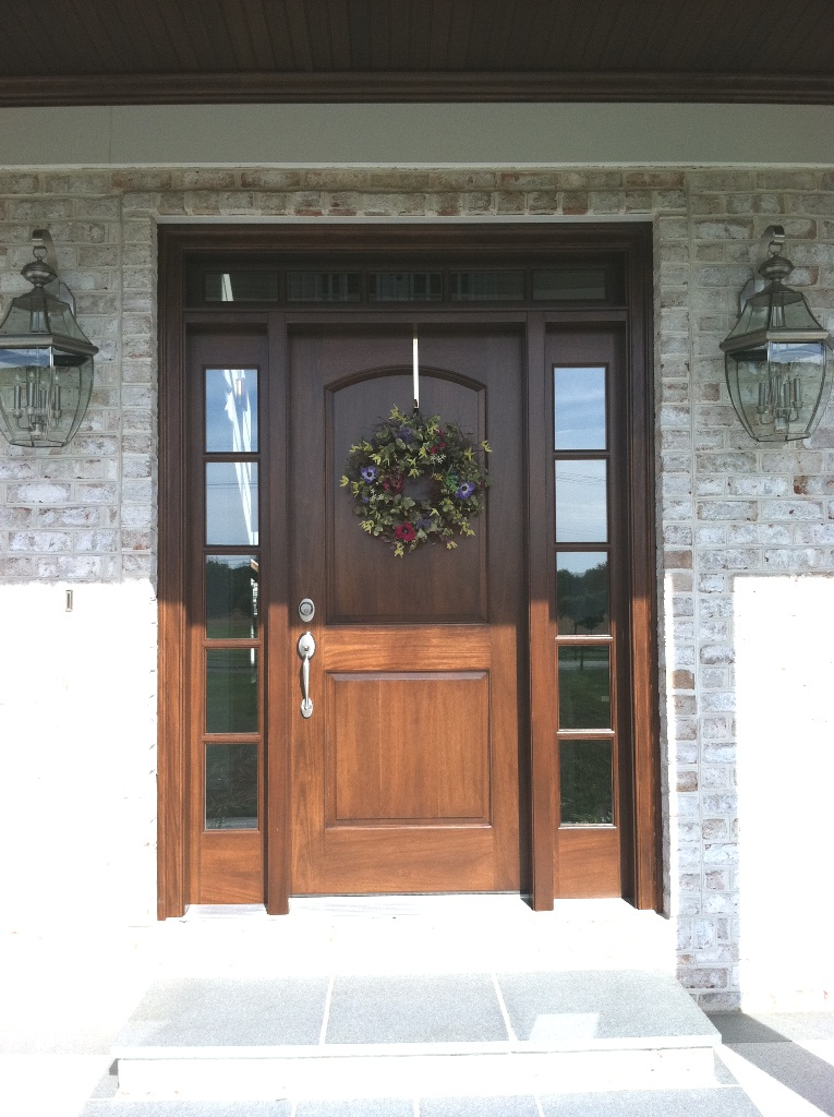 Clingerman doors custom wood garage doors clearville pa for Wood front entry doors